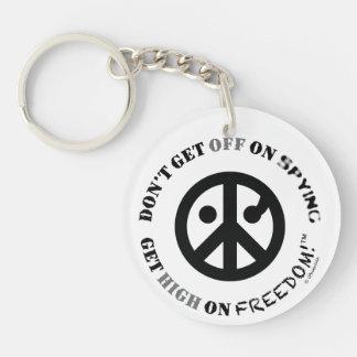 "Freedom keychain (round2"";2sided;Get Off+Unfollow) Acrylic Key Chains"