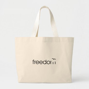 Beach Themed Freedom Large Tote Bag