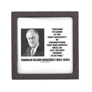 Freedom Learn First Necessity Self-Reliant F.D.R. Premium Gift Boxes