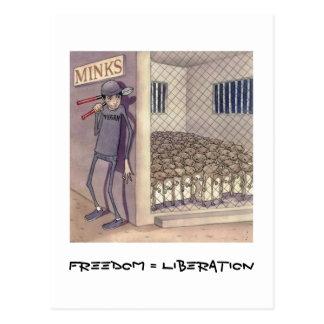 Freedom = Liberation Postcard