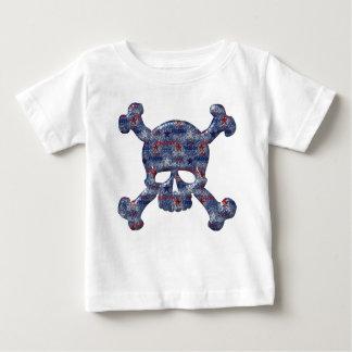 Freedom, Liberty & Brave USA  Patriotic Skull Baby T-Shirt