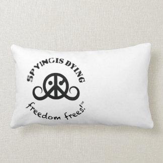 "Freedom logo pillow (rect.21x13""poly; SpyDieFree)"