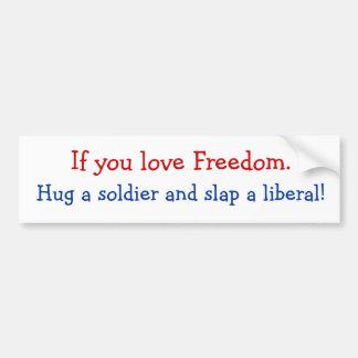Freedom lover car bumper sticker