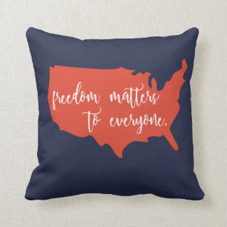 Freedom Matters to Everyone 8 Photo Pillow