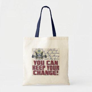 Freedom Money Guns Gun-Toting Eagle Gear Tote Bag