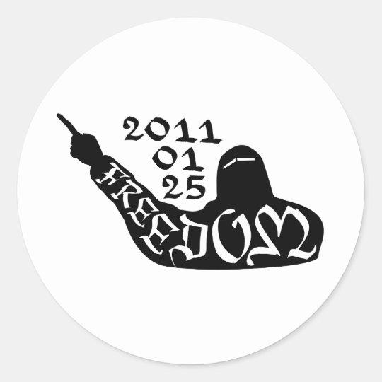 Freedom Niqāb Classic Round Sticker