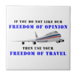 Freedom OF opinion and democracy Ceramic Tile