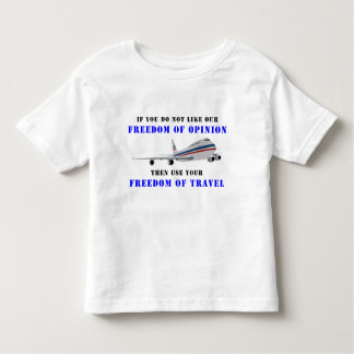 Freedom OF opinion and democracy Toddler T-shirt