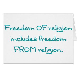 Freedom of religion greeting card