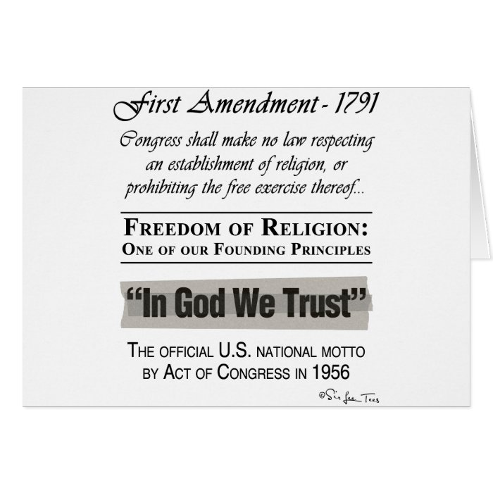 Freedom of Religion Card