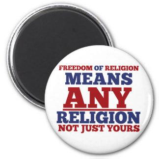 Freedom of Religion Fridge Magnet