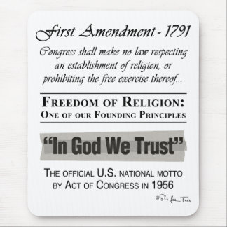 Freedom of Religion Mouse Pad