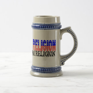 Freedom of Religion 18 Oz Beer Stein