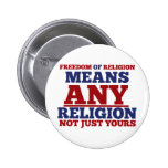Freedom of Religion Pinback Buttons