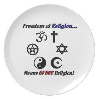 Freedom of Religion Plate