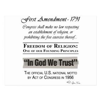 Freedom of Religion Postcard