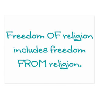 Freedom of religion postcard