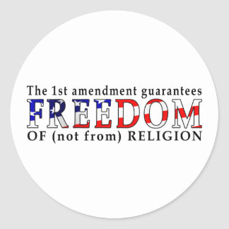 Freedom of Religion stickers
