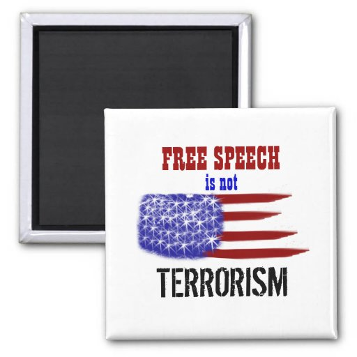 Freedom of Speech 2 Inch Square Magnet