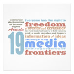 Freedom of Speech and Opnion UDHR Article 19 Personalized Invites