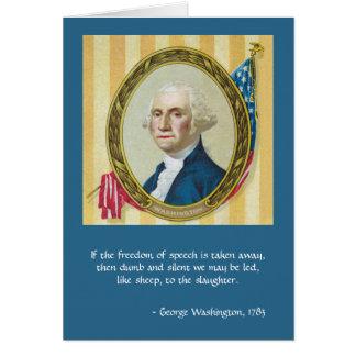 Freedom of Speech by George Washington Card