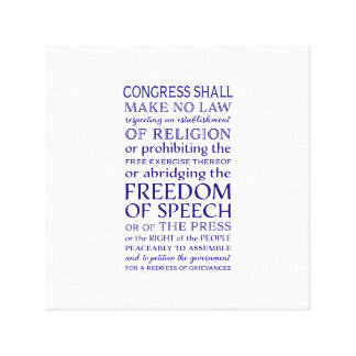 Freedom of Speech Canvas Print