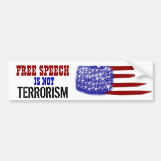 Freedom of Speech Car Bumper Sticker