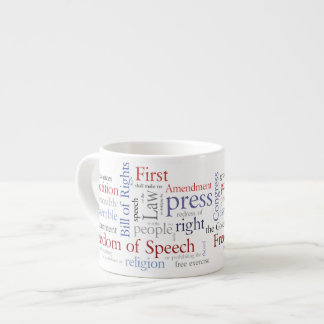 Freedom of Speech First Amendment Rights Espresso Cup