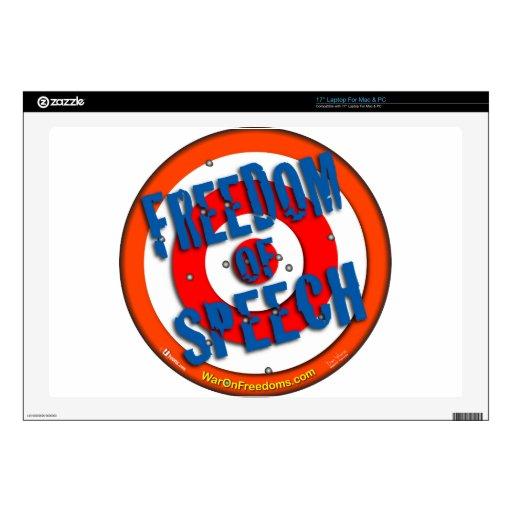 Freedom of Speech Laptop Decals