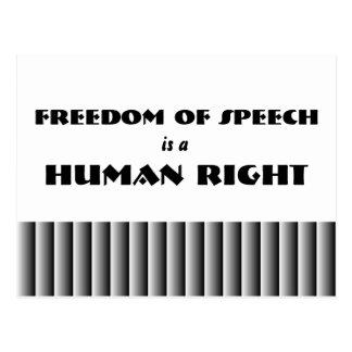 Freedom of Speech Postcard