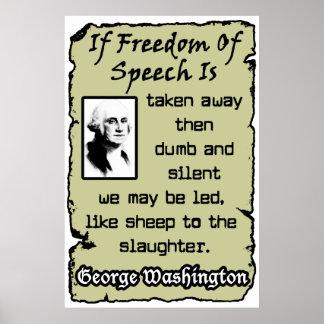 Freedom Of Speech Poster
