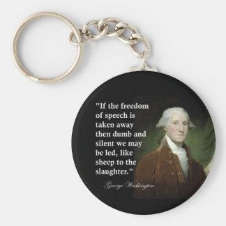 Freedom of Speech Quote by George Washington Keychain