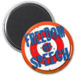 Freedom of Speech Refrigerator Magnets