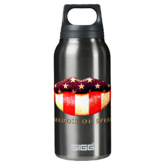 Freedom of Speech 10 Oz Insulated SIGG Thermos Water Bottle