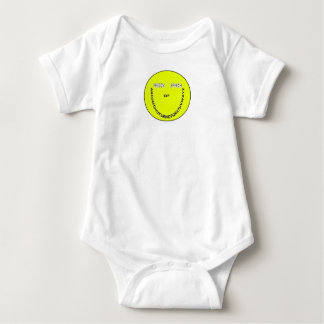 Freedom of speech smiley face baby bodysuit