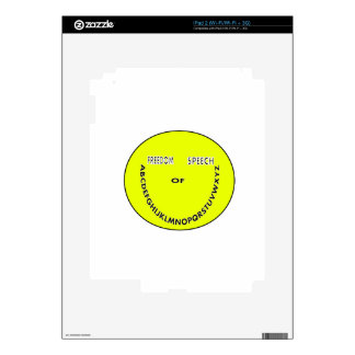 Freedom of speech smiley face decals for iPad 2