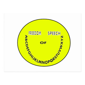 Freedom of speech smiley face postcard