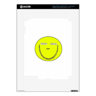 Freedom of speech smiley face skin for iPad 3