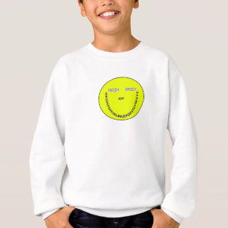 Freedom of speech smiley face sweatshirt