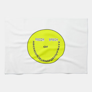 Freedom of speech smiley face towel