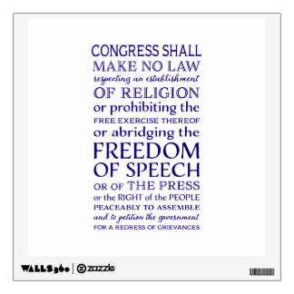 Freedom of Speech Wall Sticker