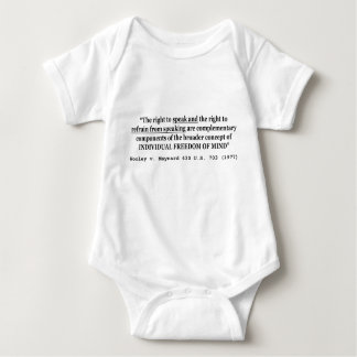 Freedom of Speech Wooley v Maynard 430 US 703 1977 Baby Bodysuit