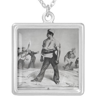 Freedom of the Press Silver Plated Necklace