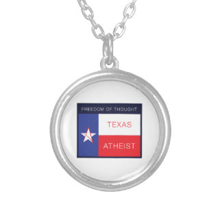 Freedom of thought round pendant necklace