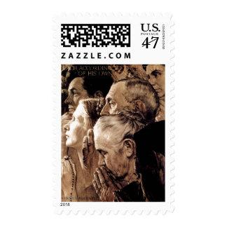 Freedom of Worship Postage Stamp