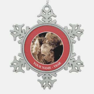 Freedom of Worship Snowflake Pewter Christmas Ornament