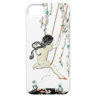Freedom On A Swing - Vintage Illustration iPhone SE/5/5s Case