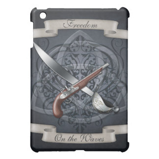Freedom on the Waves Pirate Blue  Case For The iPad Mini