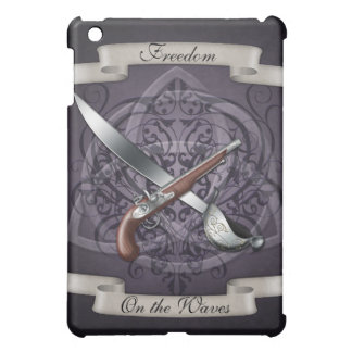 Freedom on the Waves Pirate Purple  Cover For The iPad Mini