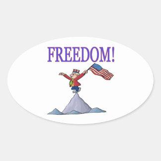 Freedom Oval Sticker